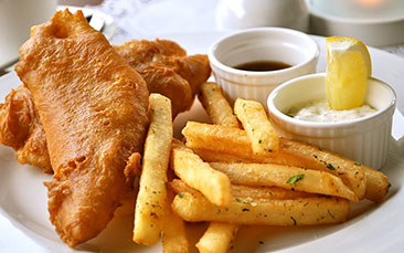 Day excursions fish and chips