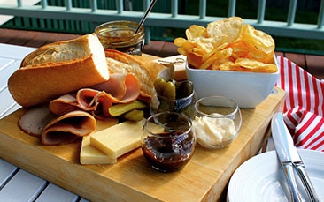Day excursions ploughmans lunch